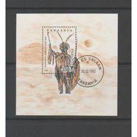 Танзания 1993г, маски, 1 блок
