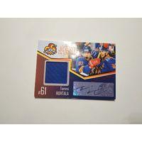 Хоккейная карточка, Йокерит, с кусочком джерси и автографом