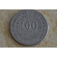Западная Африка 100 франков 1981
