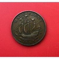 57-14 Великобритания, 1/2 пенни 1952 г.