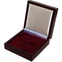 Футляр для 2 монет с капсулами 45.00 mm деревянный