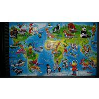 Магниты растишка-Карта мира-лотом