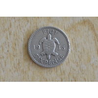 Фиджи 6 пенсов 1935(серебро)