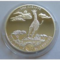 "Конго 2019 серебро (1 oz) ""Жираф"" (первая монета серии)"