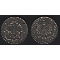 Польша ___y14 1 злотый 1929 год (h02)