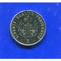 Гаити 5 сантимов 1997 UNC