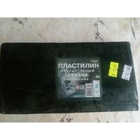 """Пластилин скульптурный """"Студия"""" оливковый мягкий"""