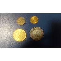 Перу набор 4 монеты