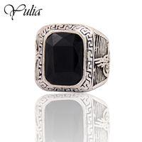 Перстень под серебро с чёрным камнем. распродажа