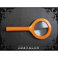Лупа с LED подсветкой, Оранжевая увеличение 5 х крат линза 80 мм для чтения и д Увеличительное стекло