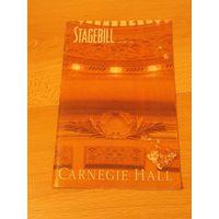 Журнал stagebill (февраль 1999),представляет Carnegie hall (на американском языке)