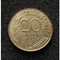 Франция, 20 сантим 1995