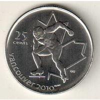 Канада 25 цент 2009 XXI зимние Олимпийские Игры, Ванкувер 2010  Конькобежный спорт