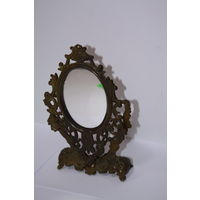 Зеркало (маленькое) латунь