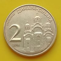 2 динара 2014 СЕРБИЯ***