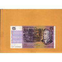Австралия 5 долларов 1991г.