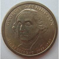 США 1 доллар 2007 г. 1-й Президент США Джордж Вашингтон (j)