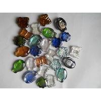 Набор декоративных стеклянных камешков 26 шт
