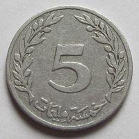 Тунис 5 миллимов 1960 г