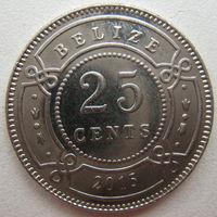 Белиз 25 центов 2015 г. (u)