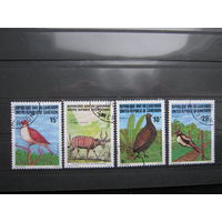 Марки - фауна, Камерун, птицы, антилопы