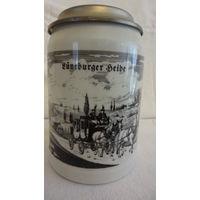 Кружка пивная с крышкой 0,5 литра Германия