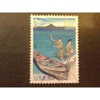 Япония 1999 рыбаки, лодка