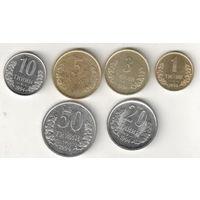 Узбекистан набор 6 монет