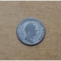 Баден, 6 крейцеров 1837 г., великий герцог Леопольд (1830-1852)
