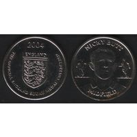 Official England Squad. Midfield. Nicky Butt -- 2004 England - The Official England Squad Medal Collection (f01)