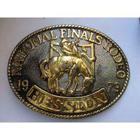 Винтажная пряжка 1979 Hesston National Finals Rodeo