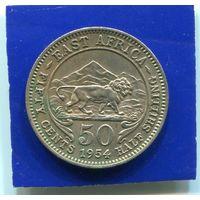 Британская Восточная Африка 50 центов 1954