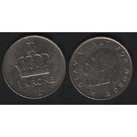 Норвегия km419 1 крона 1982 год (K) (h06)