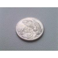 Новая Зеландия 5 центов 2000