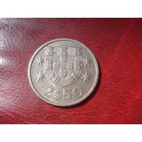 2.5 эскудо 1985 год Португалия