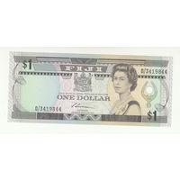 Фиджи 1 доллар 1987 года. Состояние UNC!