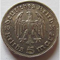 Германия 5 марок 1935 D