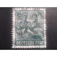 Германия 1948 надпечатка англо-амер. зона 16 пф. Mi-3,0 евро гаш.
