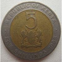Кения 5 шиллингов 1995 г. (g)