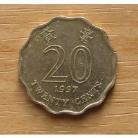 ГОНКОНГ,20центов1997г. KM# 67