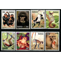 Руанда - 1978г. - Обезьяны - полная серия, MNH [Mi 922-929] - 8 марок