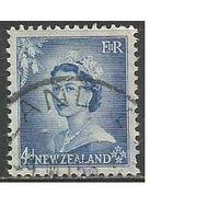 Новая Зеландия. Королева Елизавета II. 1953г. Mi#337.