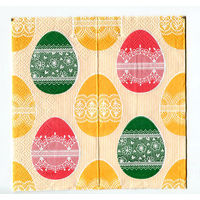 Салфетка для декупажа. Новогодняя. Яйца. Пасха.. 33х33 см