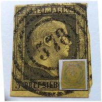 Нечастая!!! Из первых марок!!! Пруссия 1850 год, King Friedrich Wilhelm IV - Hatched Background, Engraved!!! Гашеная, USED!!!  Оригинал!!! Состояние на фото!!!