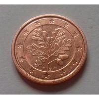 1 евроцент,  Германия  2017 F