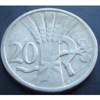 Чехословакия. 20 геллеров 1924