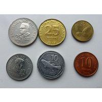 Монеты Филиппины - 6 штук ( все разные, из коллекции, цена за все)