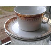 Чайные чашки с блюдцами чехословакия