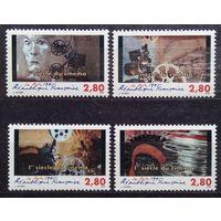 100-летие кино, Франция, 1995 год, 4 марки