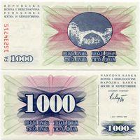 Босния и Герцеговина. 1000 динаров (образца 1992 года, P15, UNC)